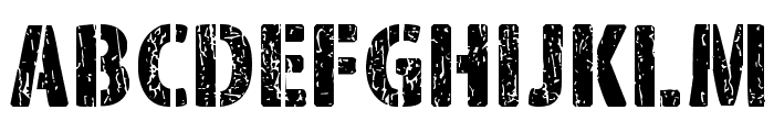 Font Corps Font UPPERCASE