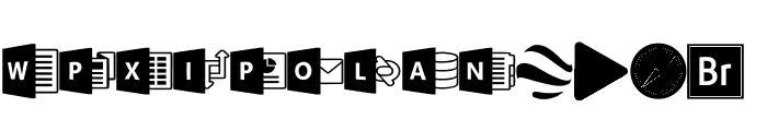 Font Logos Programs Font UPPERCASE