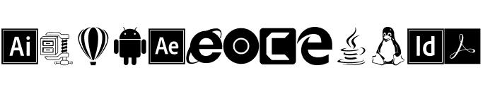 Font Logos Programs Font LOWERCASE