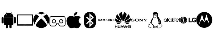 Font Logos Technology Font LOWERCASE
