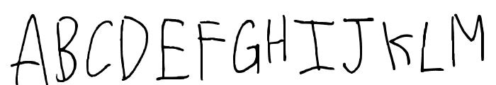 Font Regular Font UPPERCASE