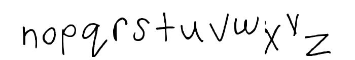 Font Regular Font LOWERCASE