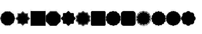 Font Shapes 2019 Font LOWERCASE