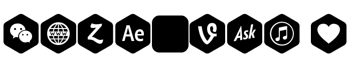 Font Social Color Pro Font OTHER CHARS