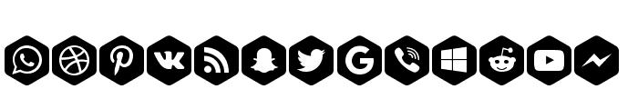 Font Social Color Pro Font LOWERCASE