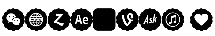 Font icons color Font OTHER CHARS