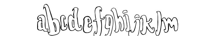 FontForTheDumped Outline Font LOWERCASE