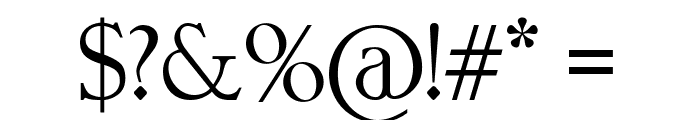 FontVectorZero Font OTHER CHARS