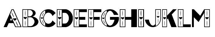 FontVectorZero Font UPPERCASE