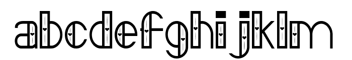 FontVectorZero Font LOWERCASE