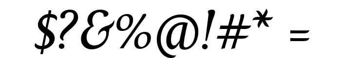 Fontin Italic Font OTHER CHARS