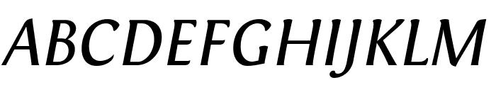 Fontin Italic Font UPPERCASE