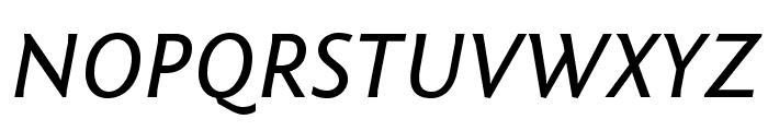 Fontin Sans Italic Font UPPERCASE