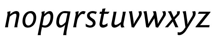 Fontin Sans Italic Font LOWERCASE