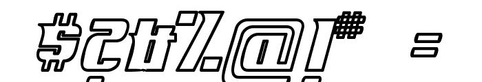 Fontovision IV outline Font OTHER CHARS