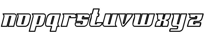Fontovision IV outline Font UPPERCASE