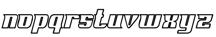 Fontovision IV outline Font LOWERCASE