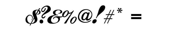Ford script Font OTHER CHARS