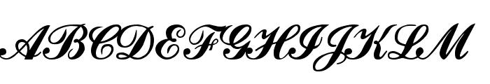 Ford script Font UPPERCASE
