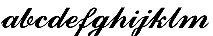 Ford script Font LOWERCASE