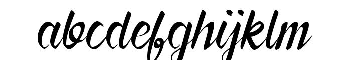 Forever Brush Script Font LOWERCASE