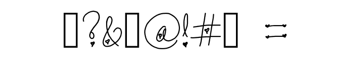 Forever In My Heart Font OTHER CHARS