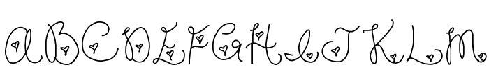 Forever In My Heart Font UPPERCASE