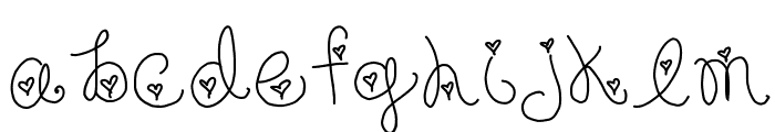 Forever In My Heart Font LOWERCASE