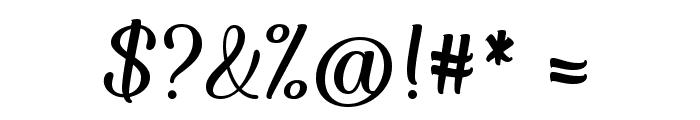 Forgiven Script Regular Font OTHER CHARS
