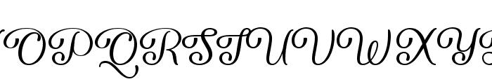 Forgiven Script Regular Font UPPERCASE