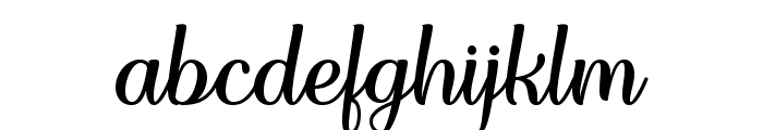 Forgiven Script Regular Font LOWERCASE