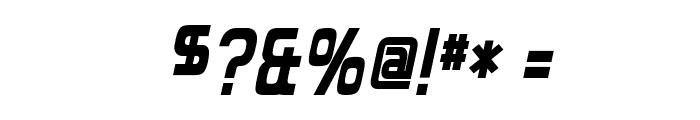 Forgotten Futurist Bold Italic Font OTHER CHARS