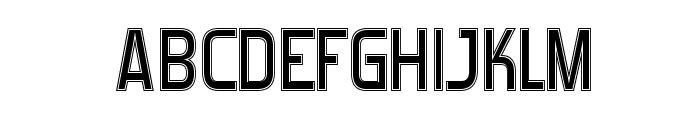 Forgotten Futurist College Font UPPERCASE