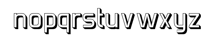 Forgotten Futurist Shadow Font LOWERCASE