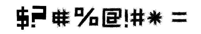 Forgotten Junk Font OTHER CHARS