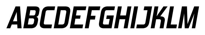 ForgottenFuturistRg-BoldItalic Font UPPERCASE