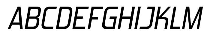 ForgottenFuturistRg-Italic Font UPPERCASE