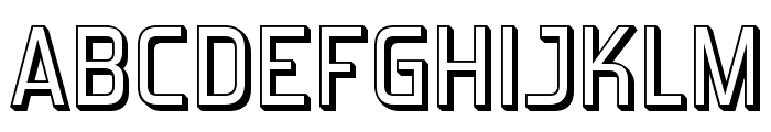 ForgottenFuturistShadow-Regular Font UPPERCASE