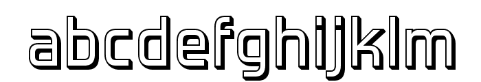 ForgottenFuturistShadow-Regular Font LOWERCASE