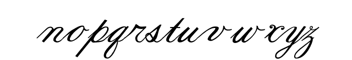 Formal Script Bold Font LOWERCASE
