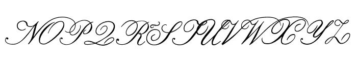Formal Script Medium Font UPPERCASE