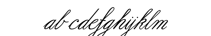 Formal Script Medium Font LOWERCASE