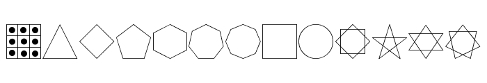 Formas germetricas 1 Font LOWERCASE