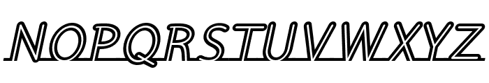 Fortrack-Italic Font UPPERCASE