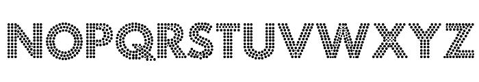 Fortuna Dot Font UPPERCASE