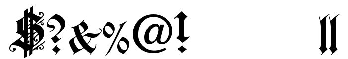 Fortuna Gothic FlorishC Font OTHER CHARS