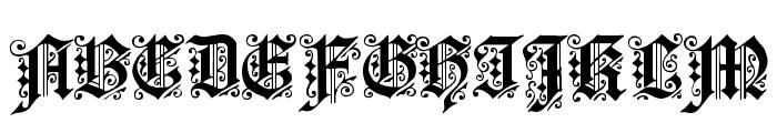 Fortuna Gothic FlorishC Font UPPERCASE
