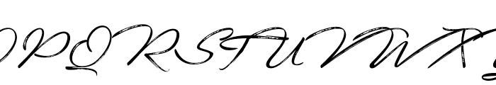 Fortunates December Font UPPERCASE