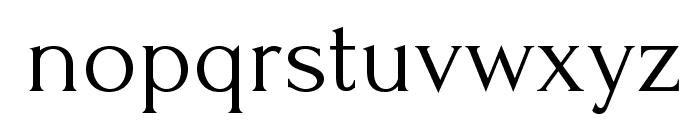 Forum Font LOWERCASE