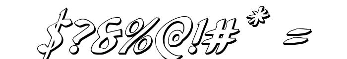 Foucault 3D Italic Font OTHER CHARS
